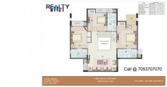 4 bhk+ 4t + servant A1-A6 Towers Duplex(2450 sqft) Layout UPPER FLOOR