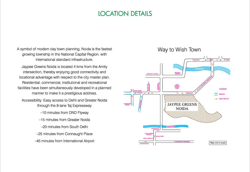 Jaypee Kalypso Court Location Map