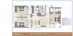 3 bhk (1420 sq ft)layout kba apartments in jaypee