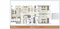 3 bhk (1650 sq ft)layout kba apartments in jaypee