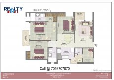 4 bhk +servant(1980 sq ft)layout kba apartments in jaypee