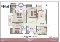 4 bhk +servant(2250 sq ft)layout kba apartments in jaypee