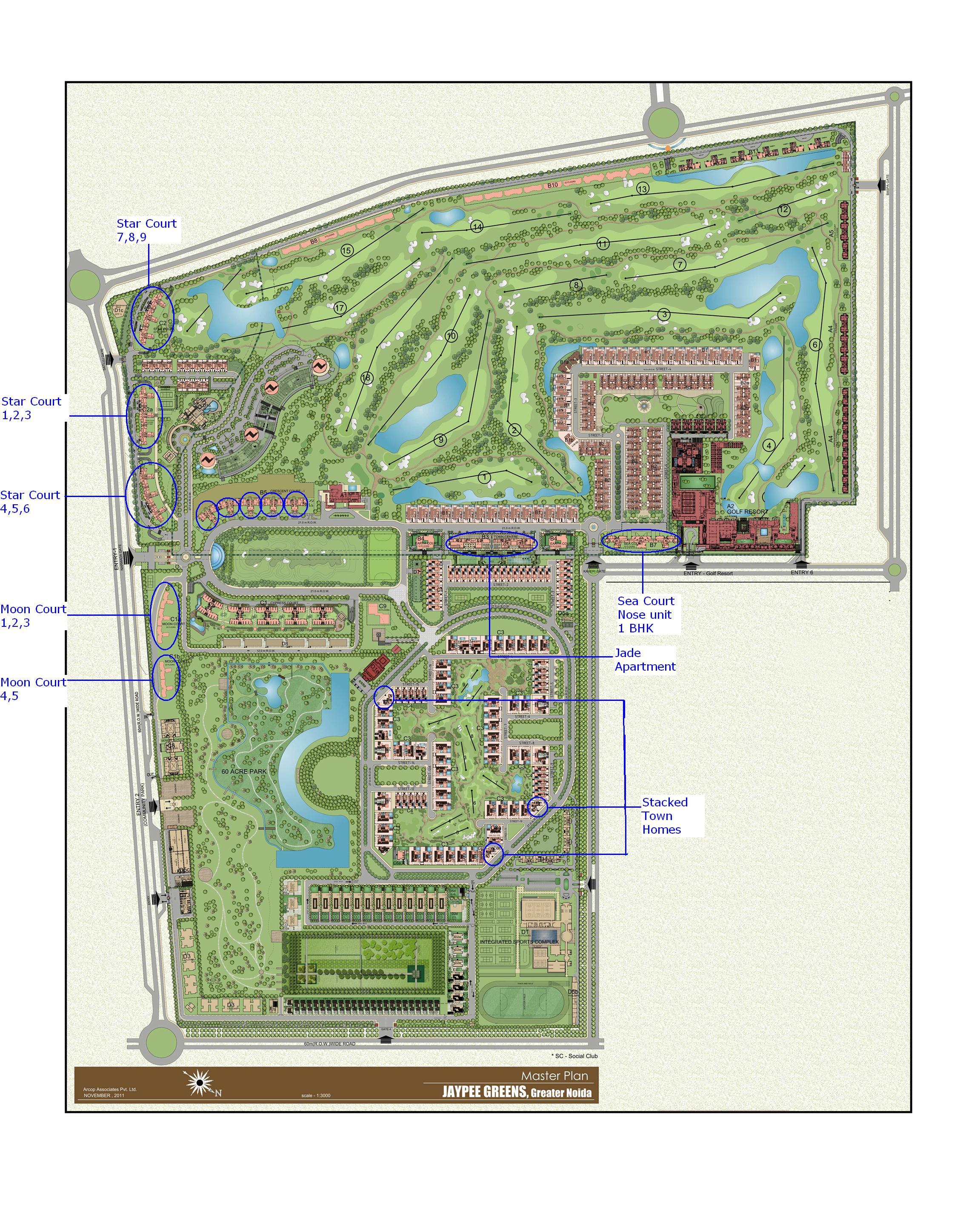 Jaypee Greens Greater Noida Master Plan