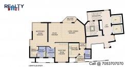 2 bhk 1651 sq ft floor plan star court