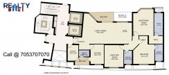 3 bhk 2100 sq ft floor plan star gold