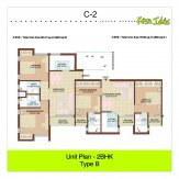 2 bhk 850 sq ft floor plan kasa isles
