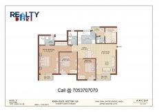 3 bhk+servant  1370 sq ft floor plan kasa isles