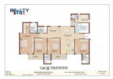4 bhk +servant 1870 sq ft kasa isles layout