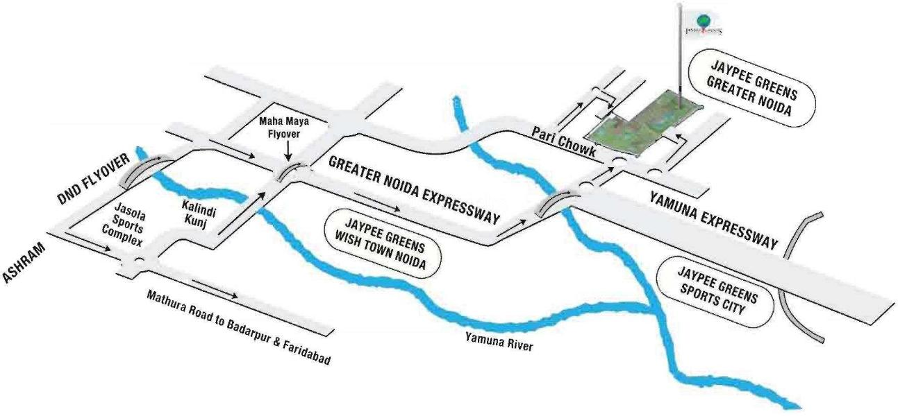 Jaypee Greens Kube Location Map