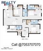 3 bhk 1740 sq ft floor plan jaypee kube