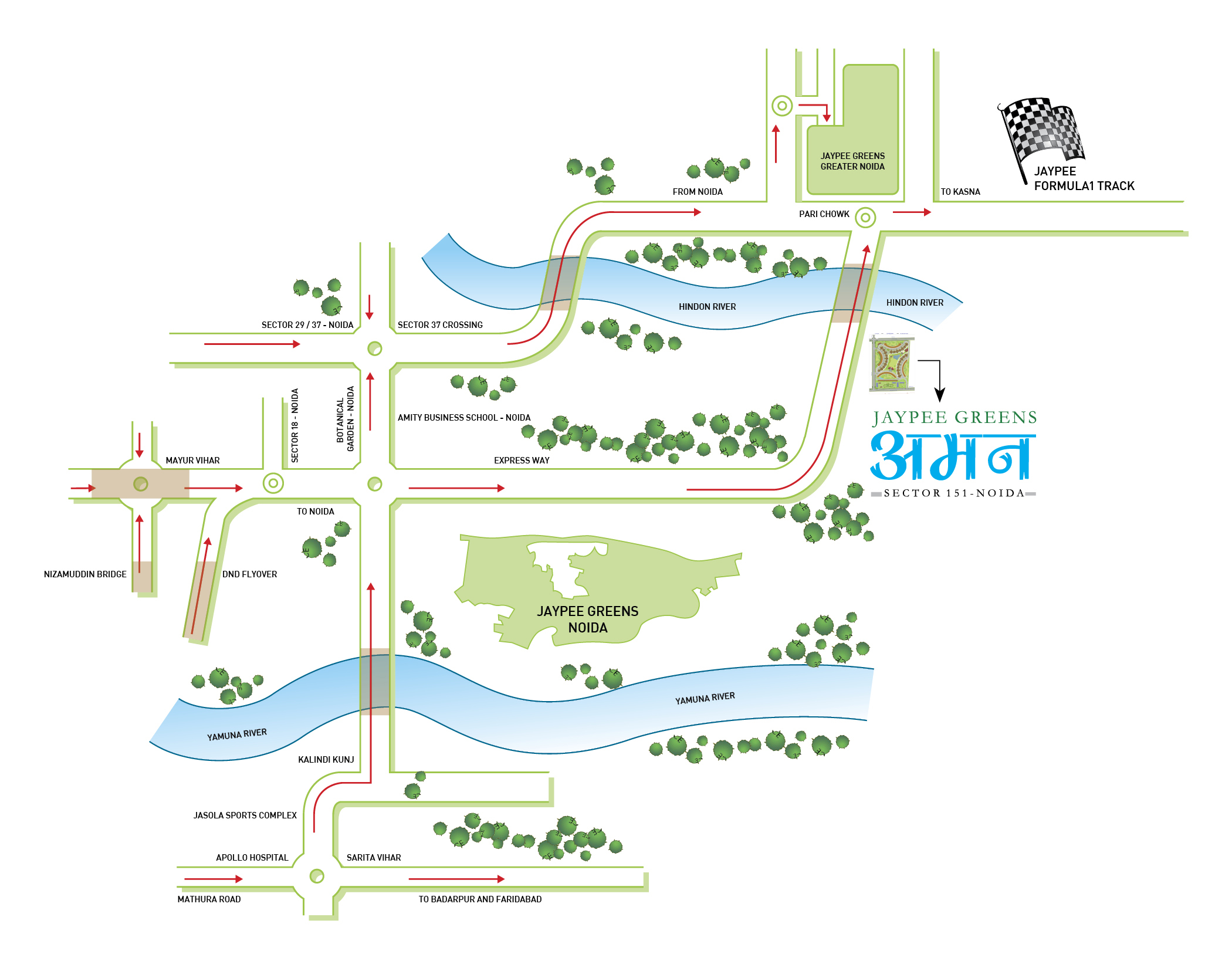 location map jaypee aman