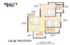 2 bhk 850 sq ft floor plan jaypee aman