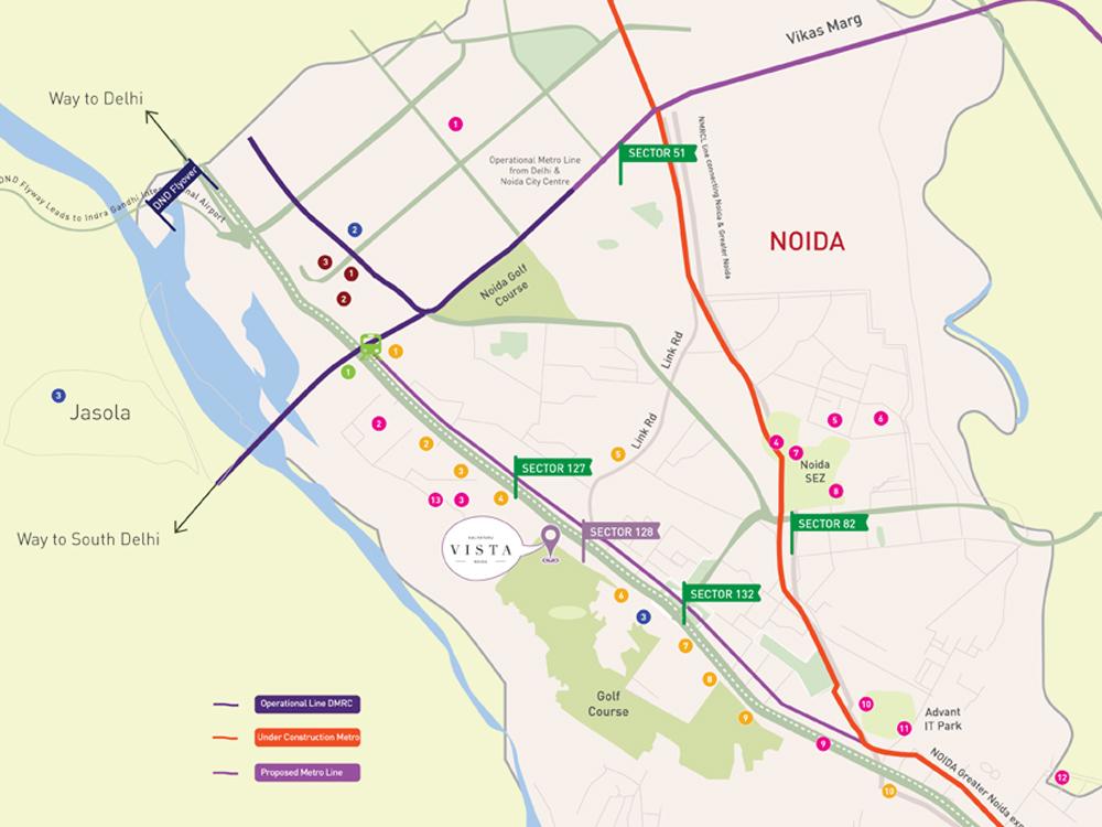 location map-kalpataru vista