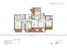 3 bhk floor plan-3011 sq ft