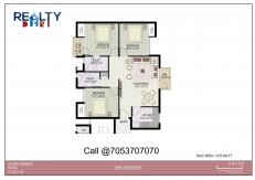 Jaypee Greens Kosmos 3 bhk Floor Plan