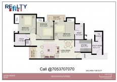3 bhk+ 2t (1215 sq ft) Floor Plan