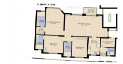 3 bhk floor plan moon court